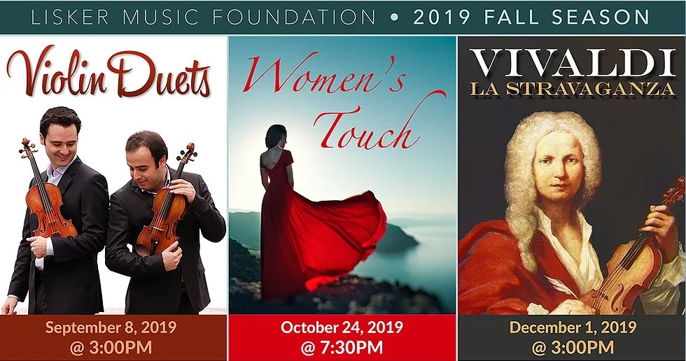 Lisker Music Foundation Fall Season 2019